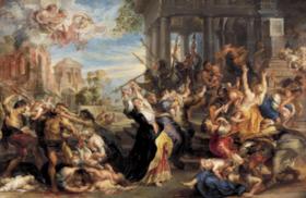 Le Massacre des Innocents  de Pierre Paule Rubens .