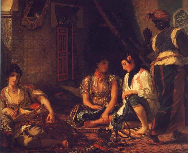 """""""Femmes d'Alger dans leur appartement"""" DELACROIX"""