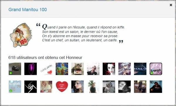 L'honneur Grand Manitou 100