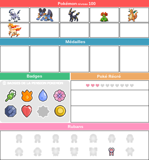 Tableau pour la Pension Pokémon