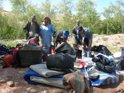 images d'un treck au maroc du 10 au 17 mars 2007 région de ouazarzate oued aoulina atlas