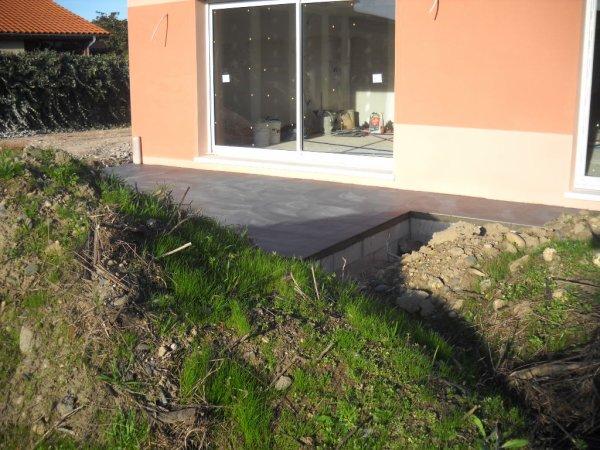 Vendredi 05 Février carrelages de la terrasse