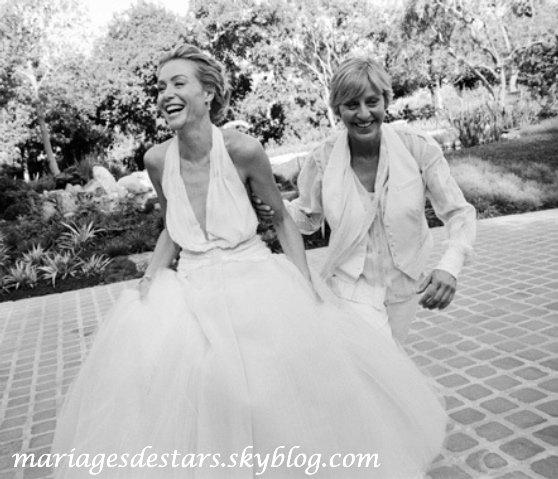 Portia de Rossi & Ellen Degeneres