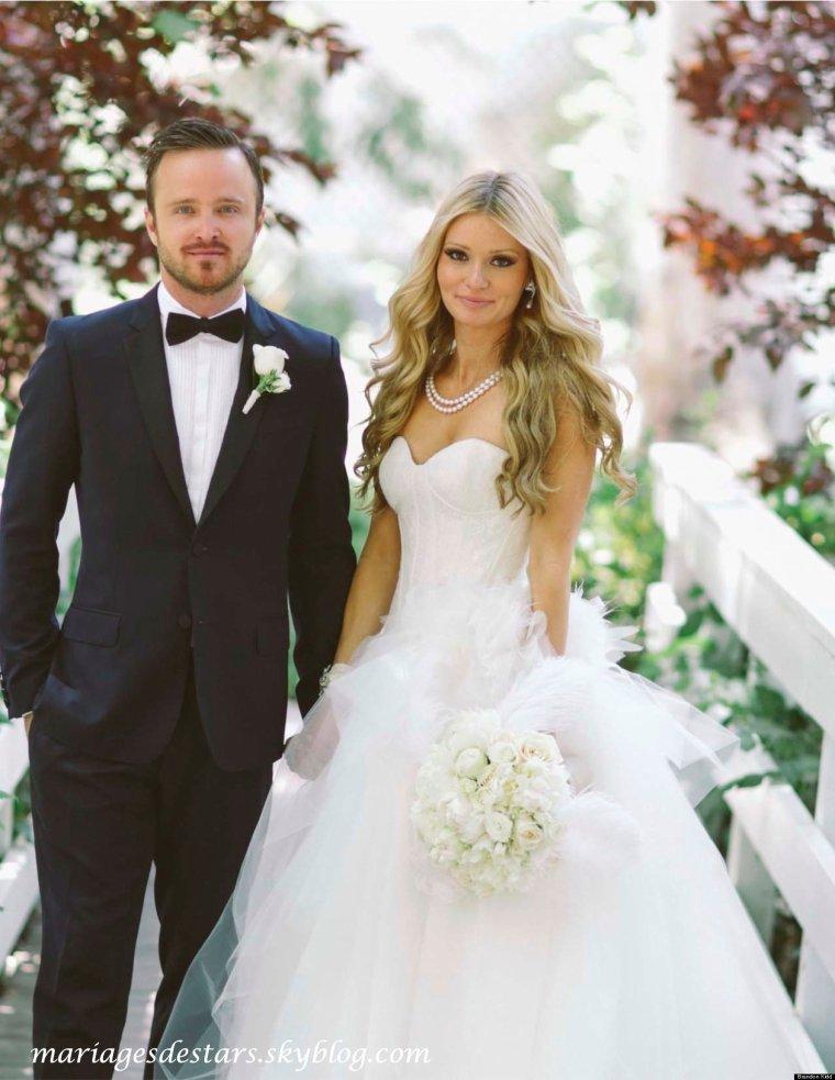 Aaron Paul & Lauren Parsekian