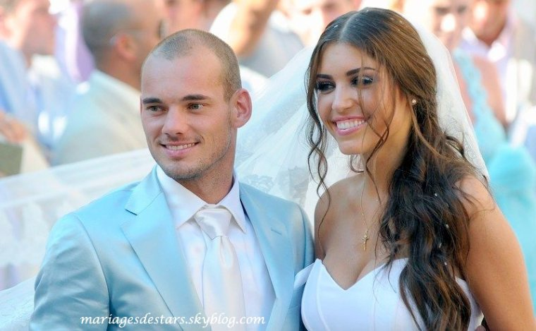 Wesley Sneijder & Yolanthe Cabau