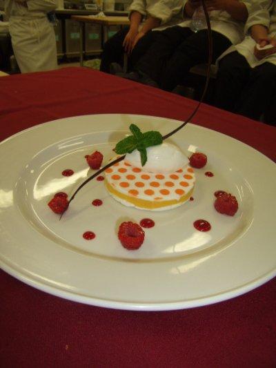 les desserts à l'assiette