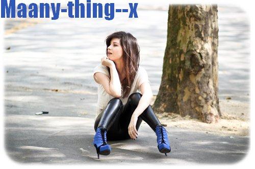 Maany-thing--x  ~  Tu sais tu me manques, même si tu es un salaud. Je pense encore à toi.