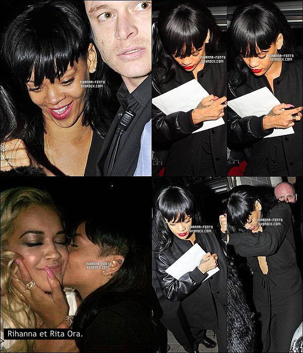 '  19/05/2012: Notre jolie Rihanna a été vue dans la soirée quittant son hôtel dans Londres. J'adore sa tenue !  Rih serait à Londres pour le tournage de son émission de mode mais elle ne resterait pas longtemps dans la capitale. Vous aimez sa tenue? '