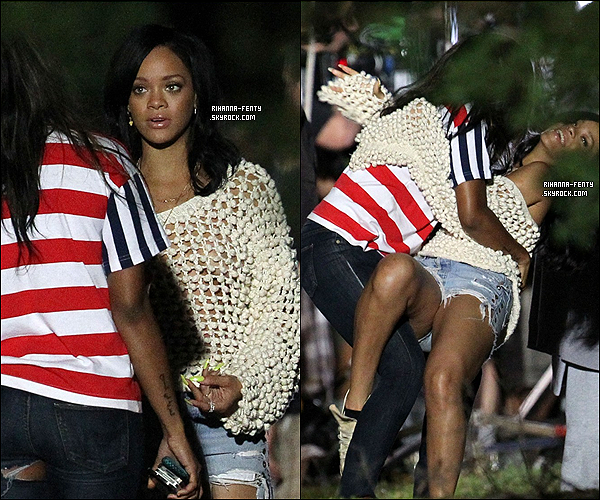 ' 31/05/2012: Rihanna Fenty arrive à la Nouvelle-Orléans pour tourner le film « The End Of The World ».  '