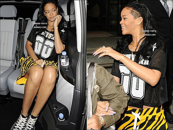19.06.2012 : Miss Rihanna Fenty à été vue quittant son hôtel à Londres, Top ou Flop .