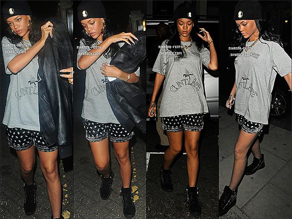 20.06.2012 : Rihanna Fenty à été aperçue arrive et quittant des studios à londres .