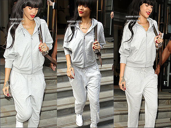 25.06.2012 : Rihanna Fenty  à été aperçue quittant son hôtel à Londres . Top ou Flop .