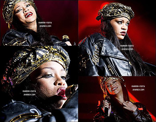 30.06.2012 : Rihanna Fenty à fait un petit show au festival Peace & Love en suède .