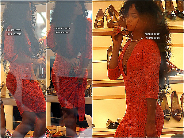 19.07.2012 : Rihanna Fenty à été aperçue sur l'île de Capri Italie faire du shooping.