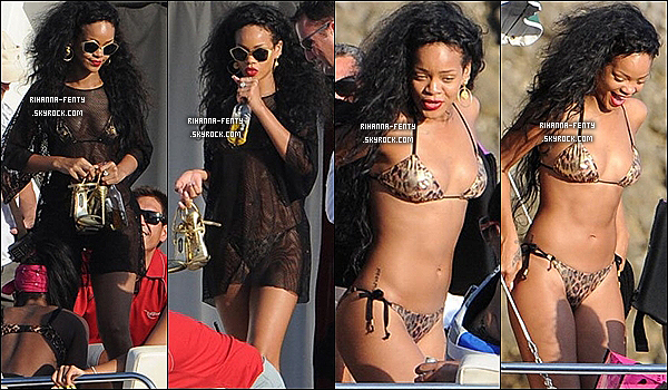 28.07.2012 : Rihanna à été vue en train de faire de la plongée sous marine en Italie.