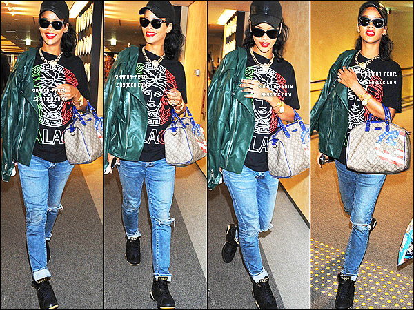 16/08/12 : Rihanna Fenty à l'aéroport « Narita » à Tokyo au Japon. T'aime sa tenue ?