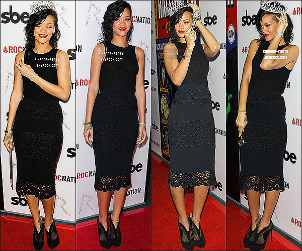 31/10/2012 : Riri se trouvait au Grestone Manor Supperclub à Los Angeles pour célébrer Halloween.
