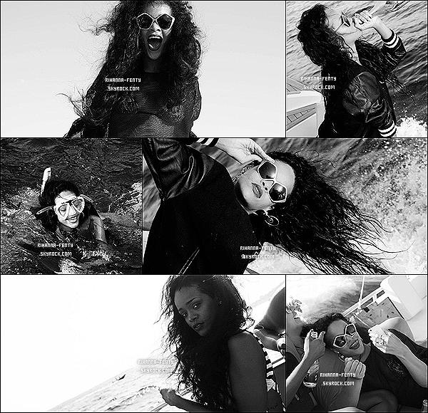 Un album photos des vacances de Rihanna de cette été dans le bassin méditerranéen .
