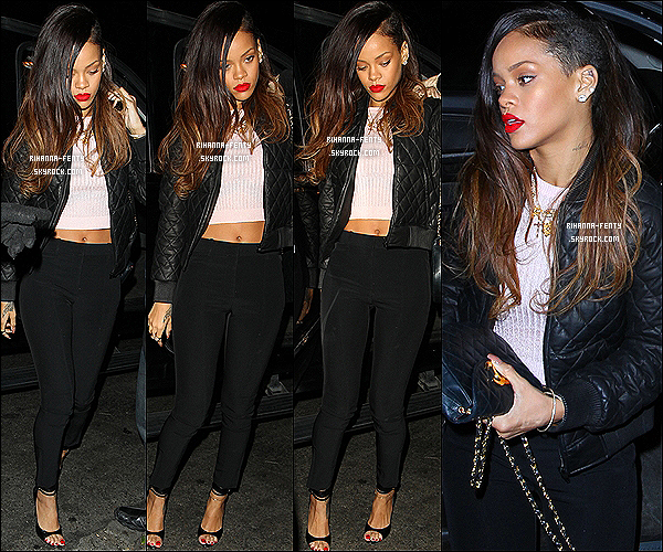 10 JANVIER 2013 - Rihanna Fenty à été aperçue arrivant et quittant le club « Roxbury » à Los Angeles ..
