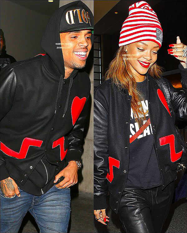 RIHANNA AND CHRIS BROWN ..