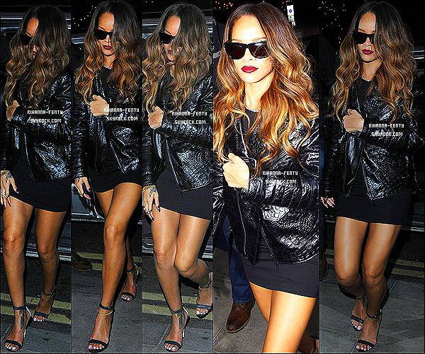16 FÉVRIER 2013 : dans la soirée Rihanna à été aperçue allant au club « The Box » toujours à Londres .plus tard dans la soirée après la boite de nuit Rihanna à été aperçue retournant à son hôtel à Londres.