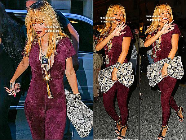 _ 04/06/13 : Rihanna et son assistante a été photographié quittant leurs hôtel pour aller dîner au restaurant à Paris.  -