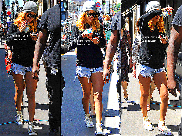 _ 07/06/2013 : Notre Rihanna Fenty a été aperçue hier se rendant à son hôtel à Paris, ( France ) . - Top or Flop ? -