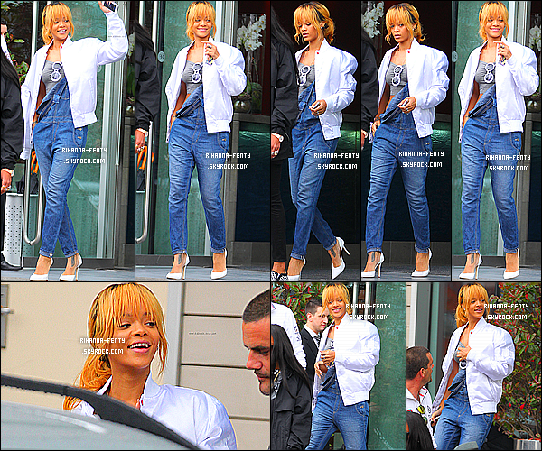 _ 12/06/2013 :  Rihanna Fenty a été aperçue il y'a quelques heures quittant son hôtel à Manchester au Royaume-Uni. -