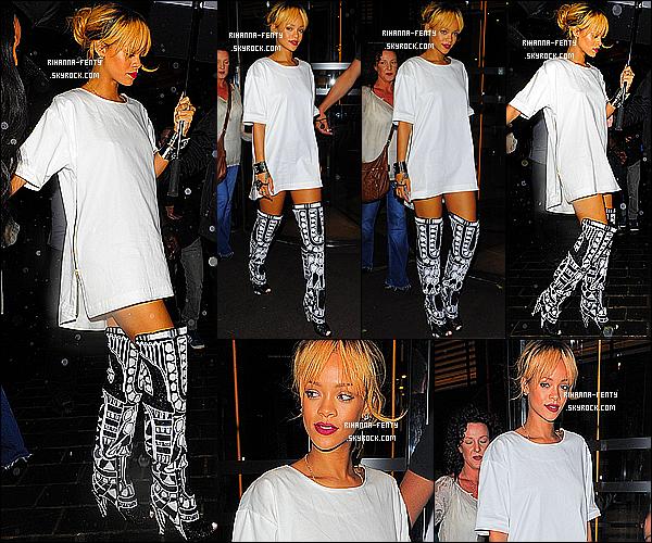 _ 15/06/2013 : Notre Rihanna Fenty a été photographié hier Aprèm midi alors qu'elle quittait son hôtel à Londres.  -