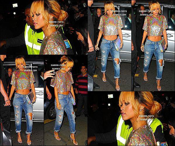 _ 16/06/13 : Rihanna a été aperçu dans les rues de Londres hier soir avec Mel et son frère quittant le club « Boujis ».  -