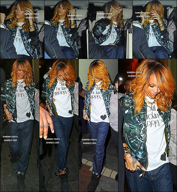 _ 21/06/13 : Rihanna Fenty a été aperçue quittant le « Lillie's Bordello » avec son assistante Jennifer à Dublin. - Top?  -