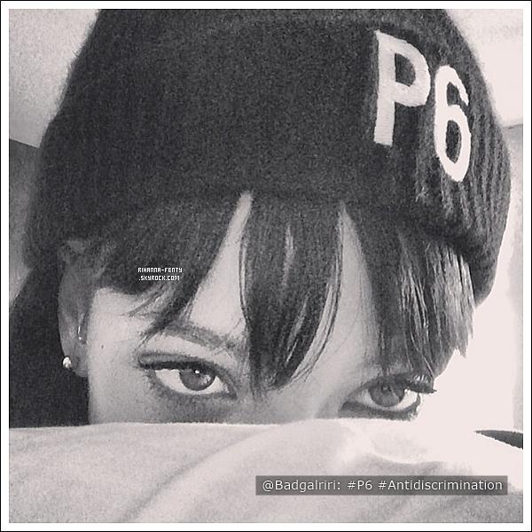 Rihanna soutient la campagne « Principe 6 » pour les droits homosexuels en Russie.