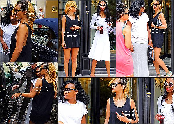 _ 11/07/2013 : Miss Fenty a été photographié par les paparazzis en train de se promener dans les rues de Monaco.. 11/07/2013 : Rihanna a été aperçue alors qu'elle quittait son hôtel à Monaco avec sa meilleur amie Melissa. - Top?  -