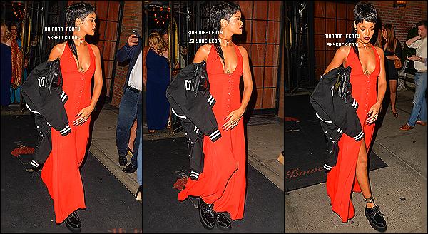 _ 07/09/13 : Rihanna a été photographiée alors qu'elle arrivait à l'after party d'Alexander Wang à New York. Top ?05/09/2013 : Rihanna Fenty a été aperçue quittant son hôtel New-Yorkais pour se rendre dans un studio photos. - Top or Flop?  -