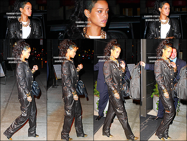 _ 08/09/2013 : Rihanna Fenty a été photographiée allant dîner japonais au restaurant  « Nobu » à New York. Top?  -