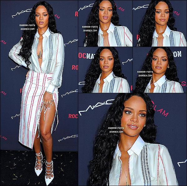 _   25/01 : Riri était au brunch des « Pré-Grammy Awards » organisé par « Roc Nation » et  M.A.C Viva Glam. La robe de Rihanna était des plus intrigante, c'est pour ça que je vous invite à commenter sa tenue. Alors  top ou flop ?   -