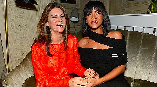 _ 01/03/2014 : Rihanna Fenty a été photographié à la soirée du magazine  « Porter » à Paris, puis quittant la soirée. -