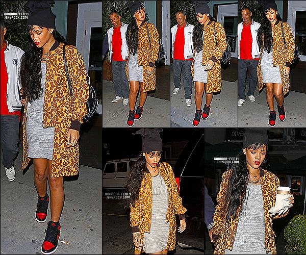 _ 03/04/2014 : Rihanna Fenty s'est rendue encore une fois au restaurant « Giorgio Baldi » à Los Angeles . - Top ?  -