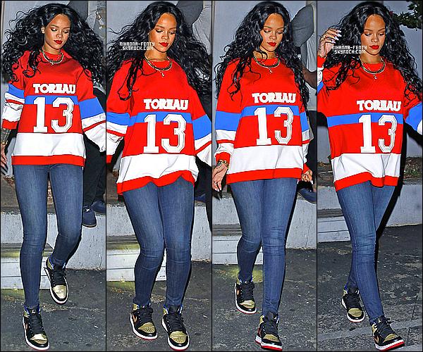 _ 06/04/14 : Rihanna a été aperçue quittant le club « Greystone Manor » à Los Angeles. Accompagnée de Melissa. -
