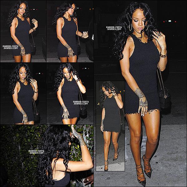 _ 11/04/14 : Rihanna  s'est rendue dîner au restaurant italien  « Giorgio Baldi » à Los Angeles . - Aime-tu la tenue? A l'occasion de l'anniversaire de sa meilleure amie Melissa, Drake était également de la partie. Tenue :  Je trouve Rihanna F très chic.. -