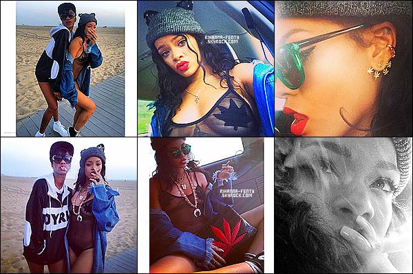 _ __  Rihanna fête pâques avec Melissa. + Rihanna au club « Lure ».  -
