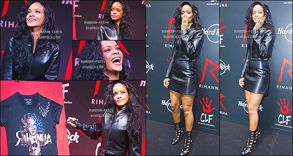 _ 05/06/2014 : Rihanna F. s'associe au Hard Rock Café, Elle s'est rendue au « Hard Rock Café » à Paris. Top ! Elle y a reçu un chèque de 200.000$ de la part de l'enseigne pour reverser cette somme à la fondation de la chanteuse, « Clara Lionel ».  -