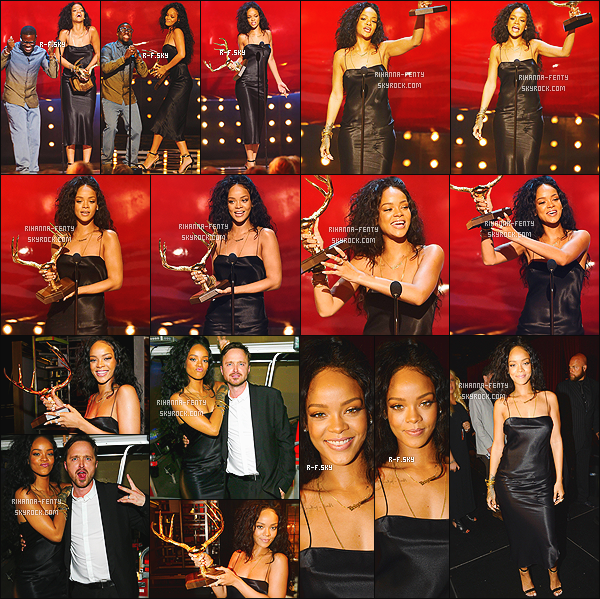 _ 07/06/2014 : Rihanna s'est rendue aux « Spike Guy's Choice Awards » à Los Angeles. Qu'en pensez vous ? Où elle a remporté le prix de la « Femme La Plus Désirable ». La cérémonie sera diffusée le mercredi 11 sur la chaîne « Spike TV ».  -