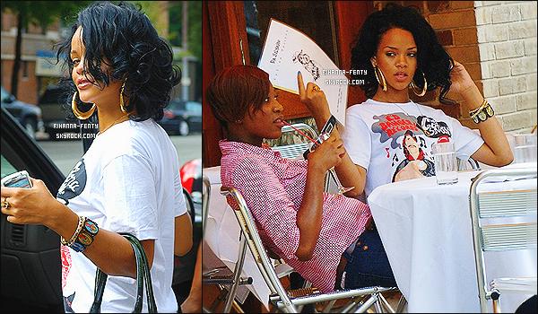 ' 18/08/2007 - Rih a été aperçue quittant un restaurant à New York. Plus tard elle quittait le concert de Beyonce. '