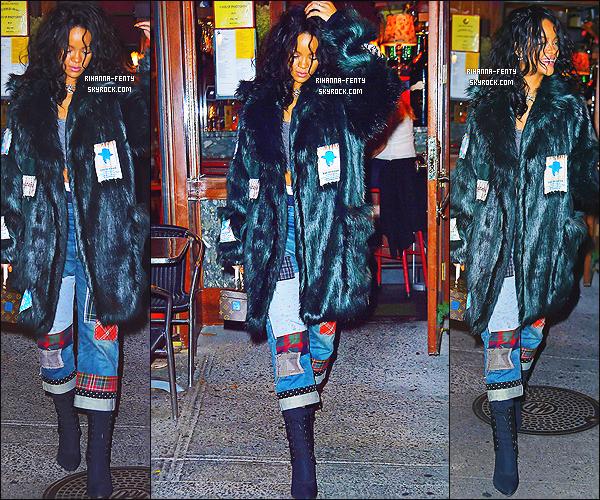 _ 17/10/2014 : Rihanna s'est rendue a son deuxième restaurant favoris « Da Silvano » à New York. - Top or Flop ?