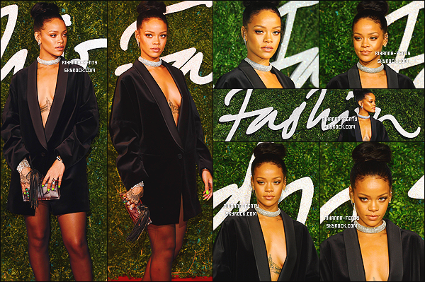 01/12/2014: Rihanna est apparue sur le tapis rouge des « British Fashion Awards » qui se déroulés à Londres.   Que pensez-vous de la tenue de notre Rihanna ? c'est un TOP ou bien FLOP. N'hésitez surtout pas à me faire parvenir vos avis.