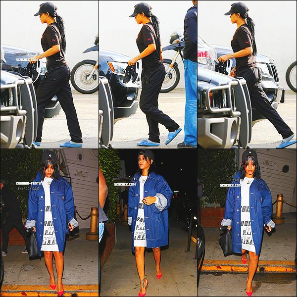 _ 28/01/15 : Riri a été photographié par les paparazzis dans la journée sortant d'un cours de gym à Los Angeles.Puis, plus tard dans la soirée, Rihanna s'esr rendu a son restaurant favoris, le,  « Giorgio Baldi » à Los Angeles. Donner vos avis.