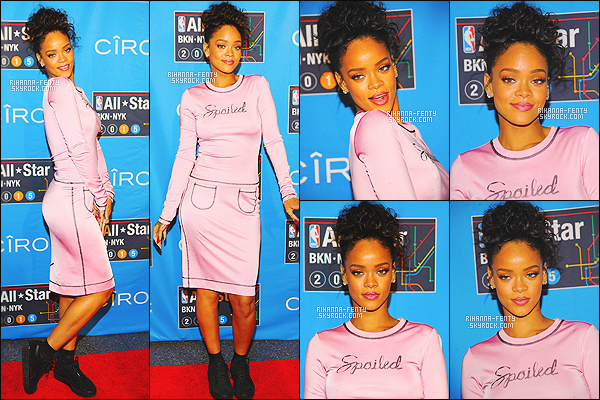 _ 14/02/2015 - Rihanna et Melissa se sont rendues au « NBA All-Star Weekend » au « Barclays Center » à New York.Que pensez-vous de sa tenue a Rihanna ? c'est plutôt un TOP ou bien FLOP. N'hésitez surtout pas à me faire parvenir vos avis.