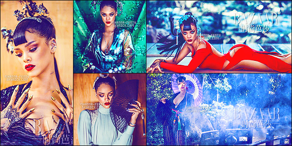 _ NOUVELLES PHOTOS DE RIHANNA POUR LE SHOOTING DU MAGAZINE HARPER'S BAZAAR CHINA