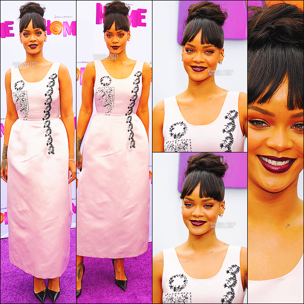' 22/03/2015 - Rihanna Fenty, toute sublime, était présente à l'avant première du film « Home » à Los Angeles.  Le vidéo clip de « Can't Remember To Forget You » de Shakira avec Rihanna a franchi les 500 millions de vues sur YouTube VEVO. Félicitation ! '